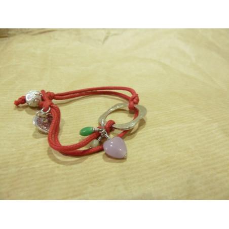 Pulsera cinta algodón en rojo
