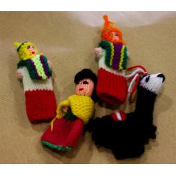Títeres de dedo de lana