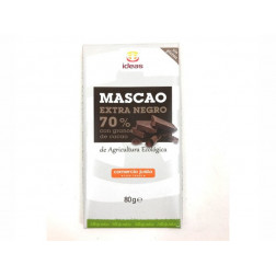 Tableta de chocolate Extra Negro, BIO, MASCAO