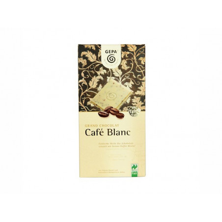 Tableta de chocolate Blanco al café, BIO