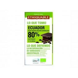 Chocolate negro BIO 80%