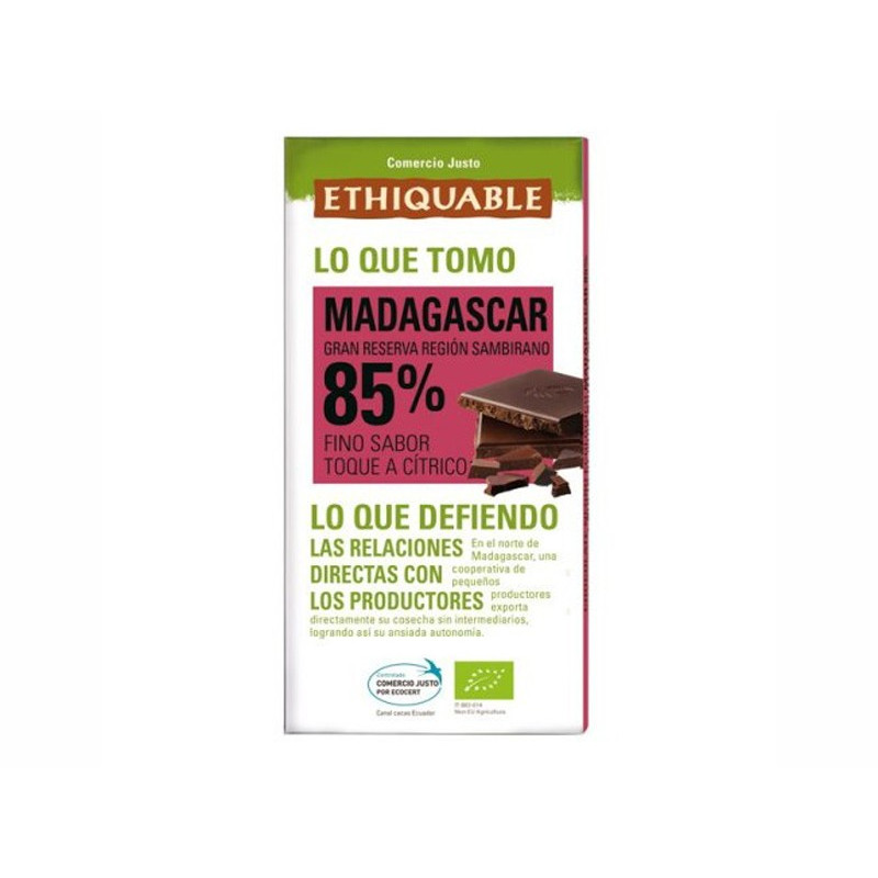 Chocolate BIO 85%, de Madagascar