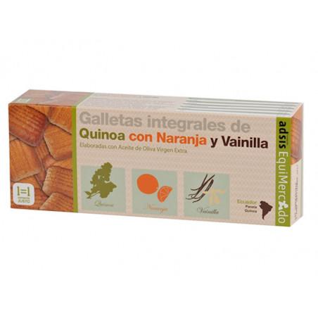 Galletas integrales de quinua con naranja y vainilla, BIO