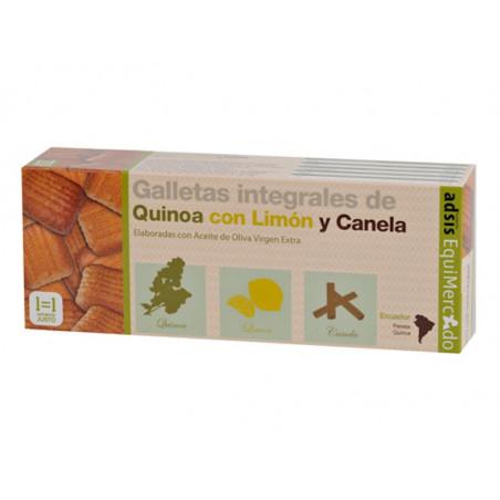 Galletas de quinua con canela y limón, BIO