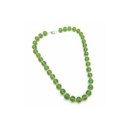 Collar cuentas cristal verde