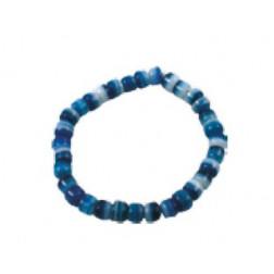 Pulserita cuentas cristal azules