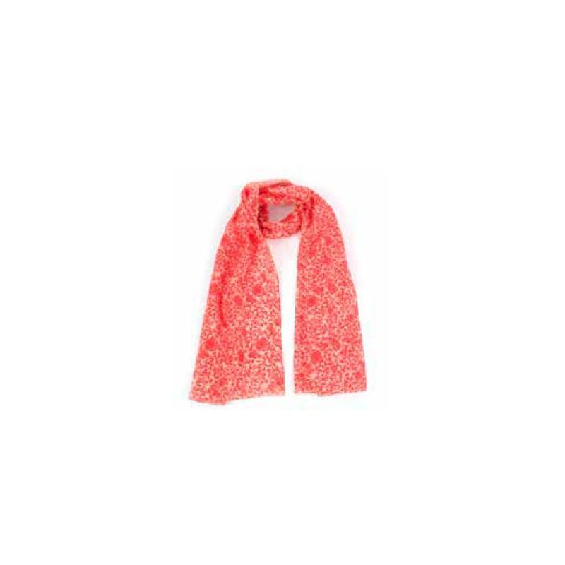Pañuelo rojo flores, 100 algodón BIO