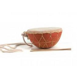 Tambor cerámica y cuero