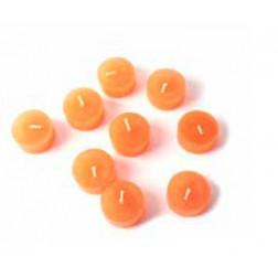 Velitas naranjas, set 9 unidades