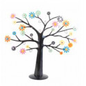 Árbol sujeta-joyas flores colores H