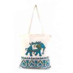 Bolsa de compra con diseño elefante 100% algodón