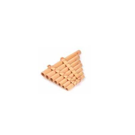 Flauta de pan bambú