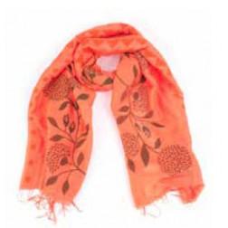 Pañuelo naranja flores