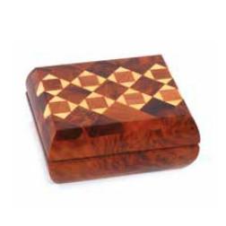 Cajita madera dibujo cuadrado