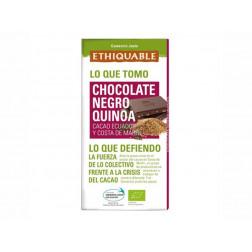Chocolate BIO negro con quinoa - 100gr