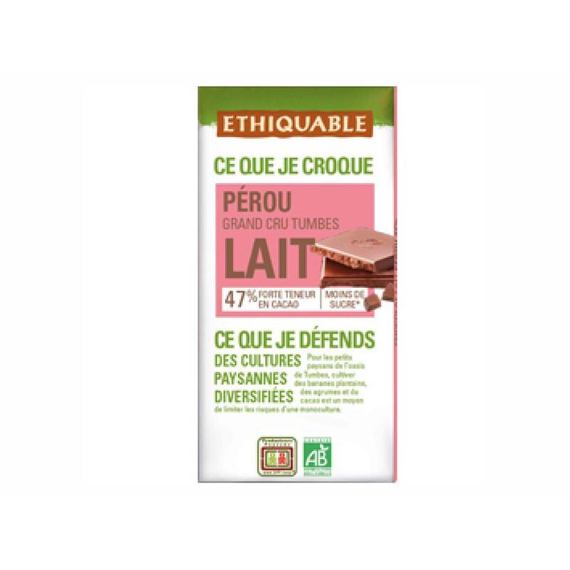 Chocolate BIO con leche con más cacao