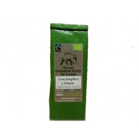 Té verde suelto con jengibre y limón, 100gr