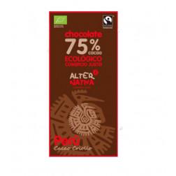 Chocolate 75% Cacao Perú BIO-FT