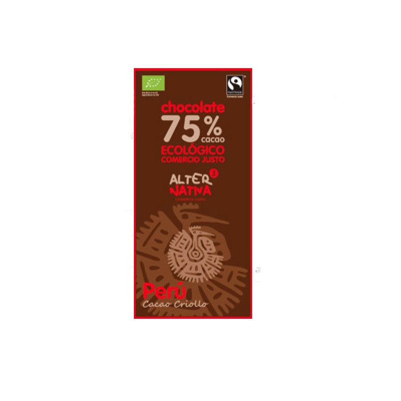 Chocolate 75% Cacao Perú BIO-FT