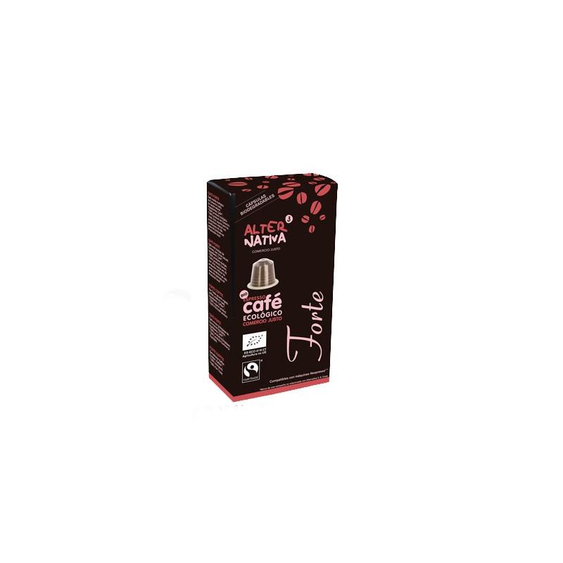 Caja 10 cápsulas biodegradables. Café Forte FLO - 5