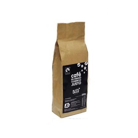 Café biológico grano BIO-FT 250 gr. Arábica/Robusta Natural 100%