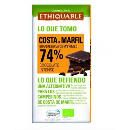 Chocolate negro 74% Costa de Marfil BIO