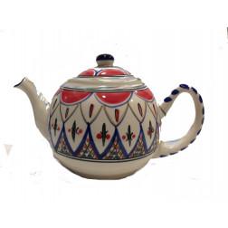Tetera cerámica decorada