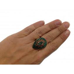 Anillo piedra mosaico ajustable
