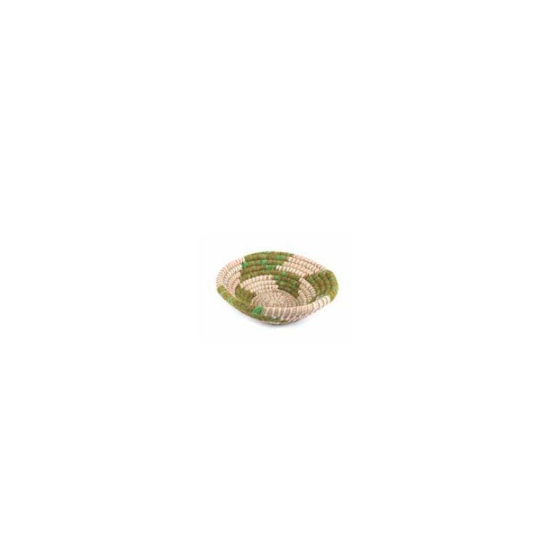 Cesta mimbre hilo verde 30*10cm