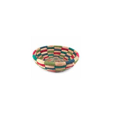 Cesta mimbre hilos multicolor 34*10cm