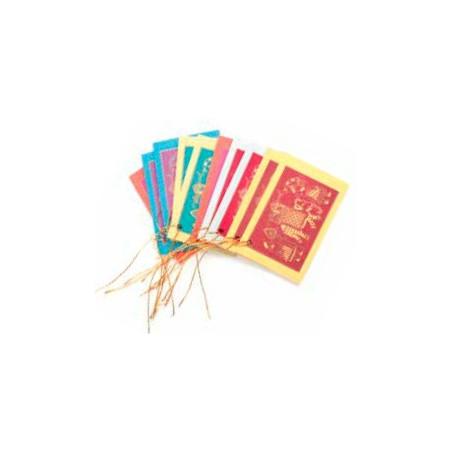 Set 10 tarjetas elefante, colores variados