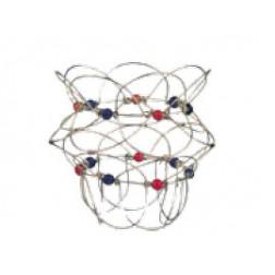 Juego de alambre (Mandala) cuentitas colores
