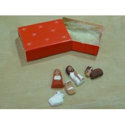 Belén, cerámica en cajita de cerillas