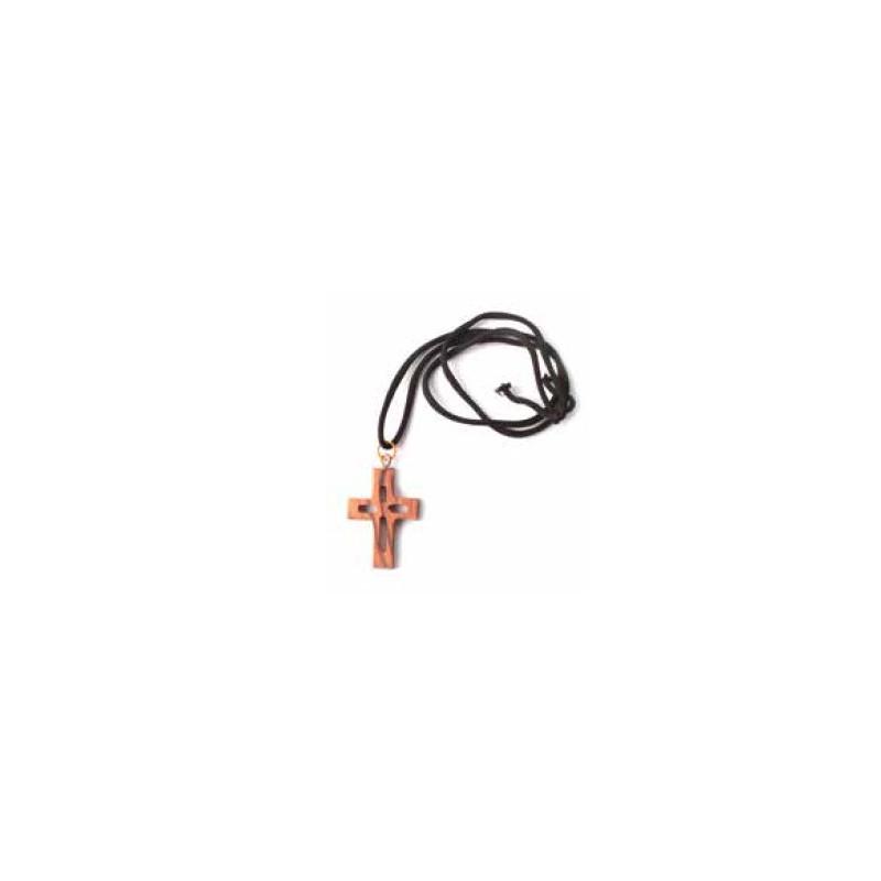 Colgante cruz madera de olivo