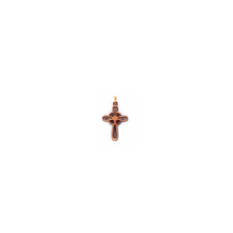 Colgante cruz redondeada de olivo