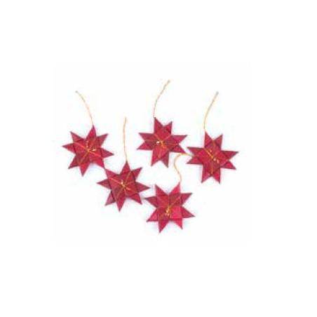 Estrella hoja de palma, roja