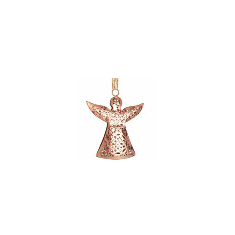 Colgante angel de metal, color cobre 10cm
