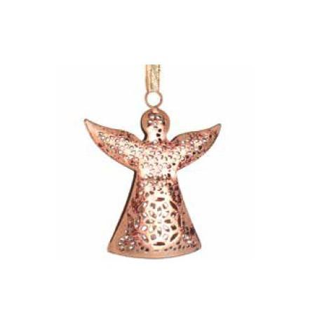Colgante angel de metal, color cobre 10cm