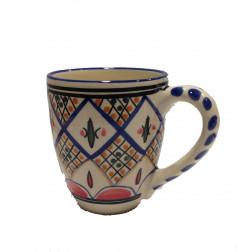Taza cerámica decorada
