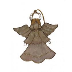 Adorno colgante ángel de alambre, 11cm