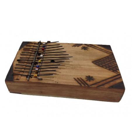 Caja musical madera. 20*13*4cm
