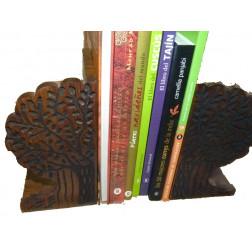 Sujeta libros grabado de madera Sheesham