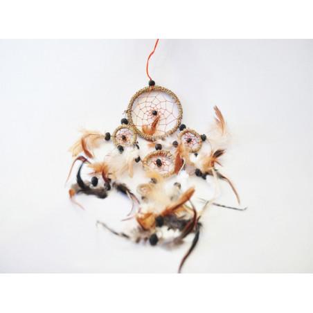 Atrapasueños pequeña marrón 36 cm - 8cm