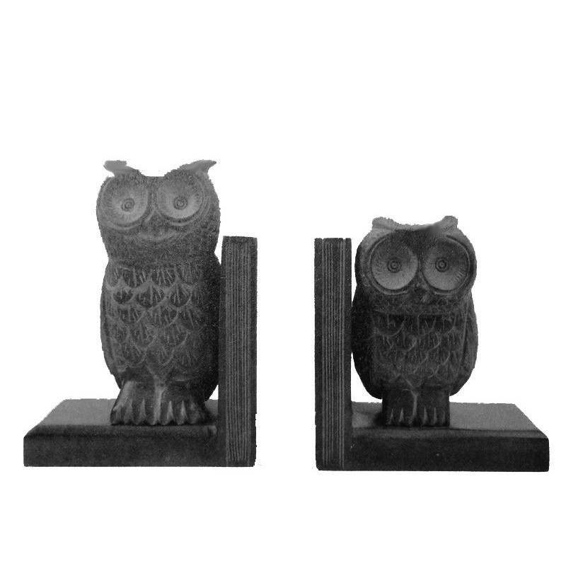 Sujetalibros de piedra, figuras búhos