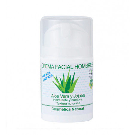 Crema facial de Aloe Vera y Jojoba, para hombres