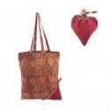Bolsa tela con bolsito corazón rojo