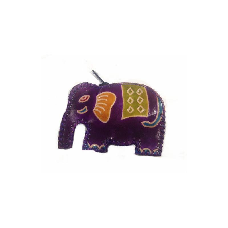 Monedero infantil elefante, cuero 11.5*8.5 cm