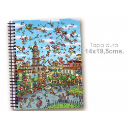 """Cuaderno 14*19.5 """"Circo en la calle"""""""