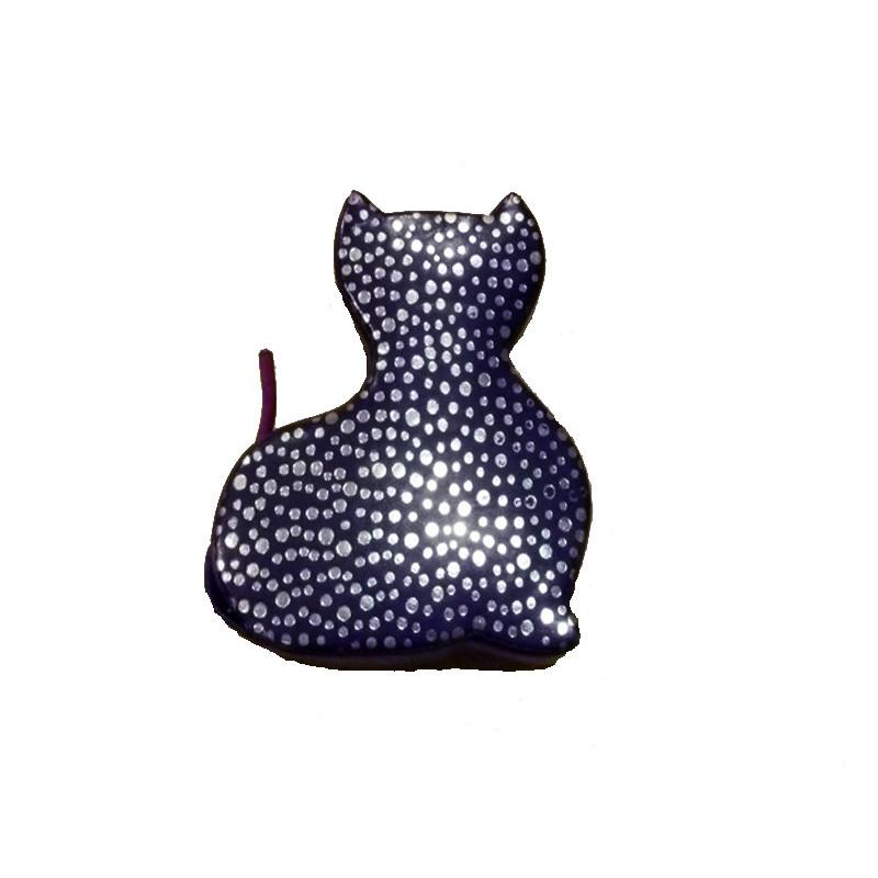 Hucha en piel diseño gato