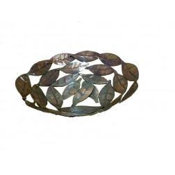 Bowl, hierro diseño hojas